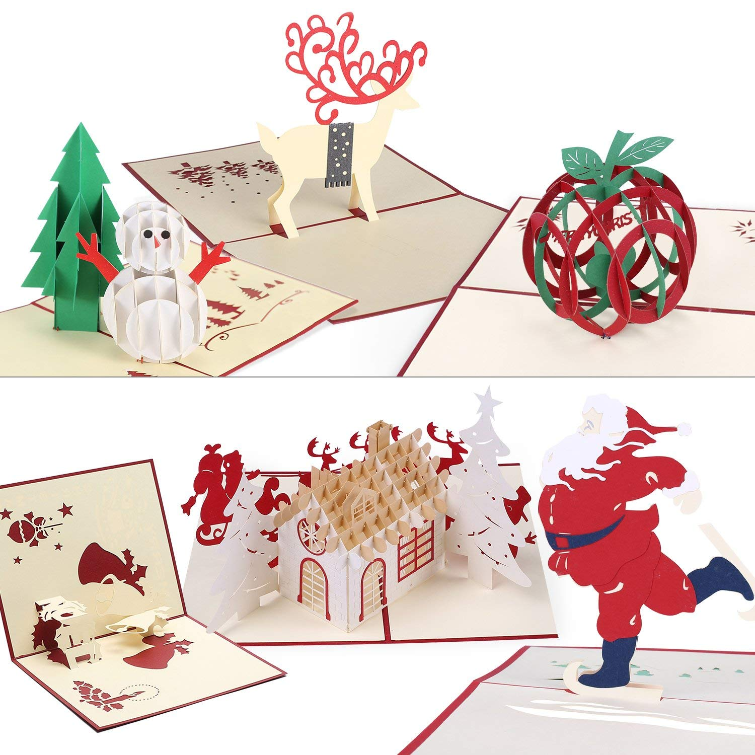 Christmas Card 3D Pop Up Greeting Cards
