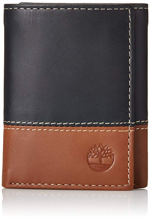 Timberland Mens Trifold Wallet With an ID Window