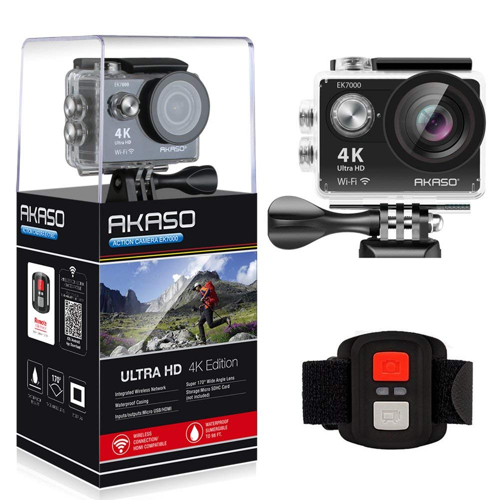 AKASO EK7000 WiFi Sports Action Camera HD - Christmas Gifts for Him