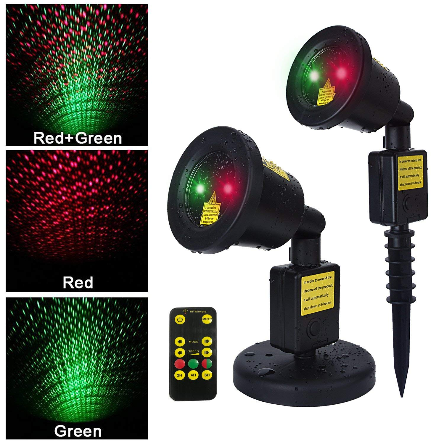 AOSTAR Christmas Laser Light Remote Control Waterproof LED Outdoor Motion Laser Light Projector