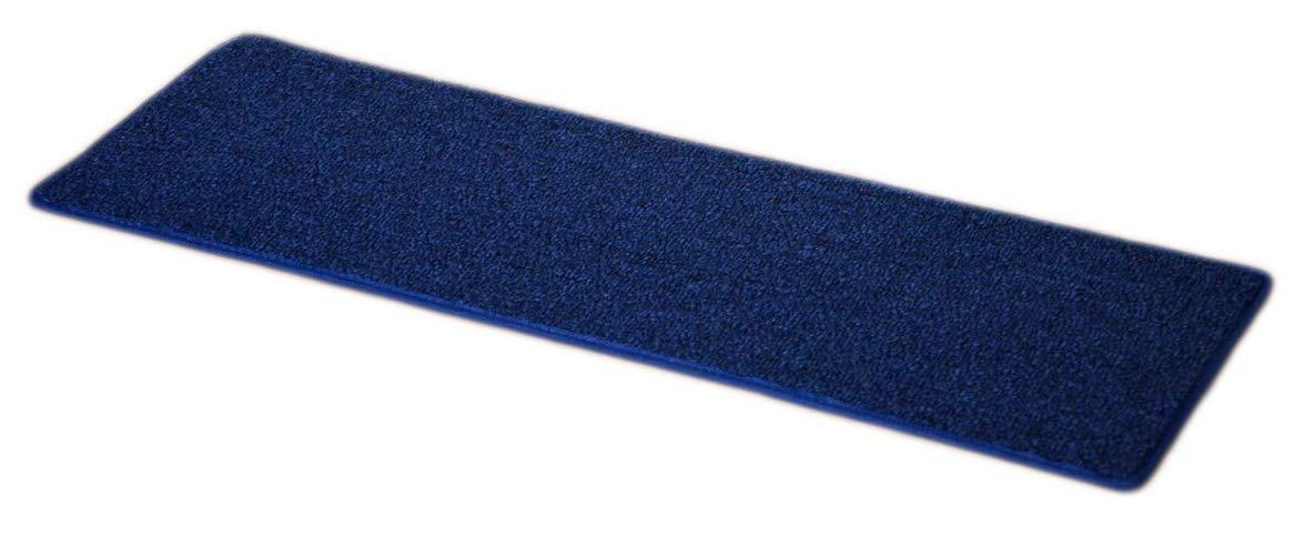 "Dean Carpet Stair Treads 23"" x 8"" - Navy Blue - Set of 13"