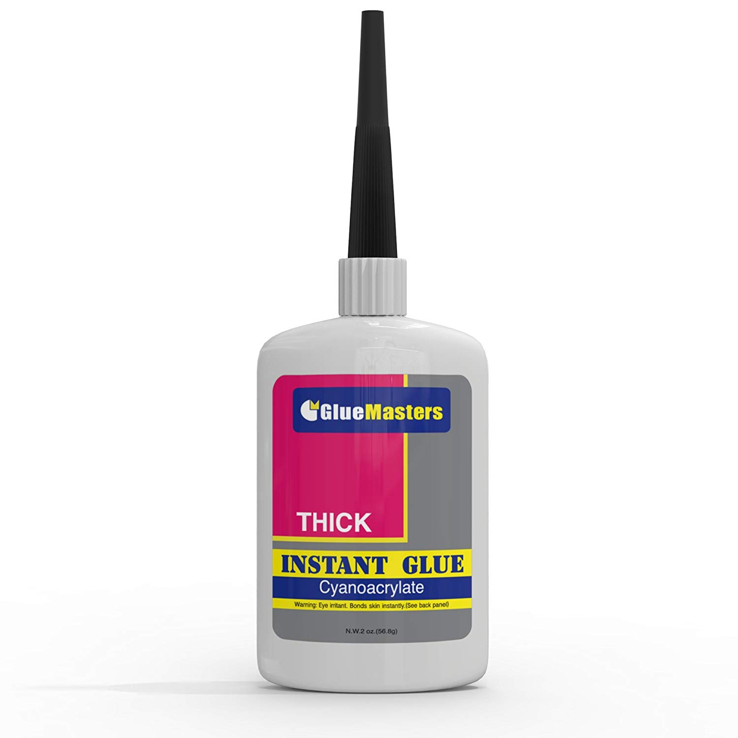 """Professional Grade Cyanoacrylate (CA)""""Super Glue"""" by Glue Masters - 56 Grams - Thick Viscosity Adhesive for Plastic, Wood & DIY Crafts"""