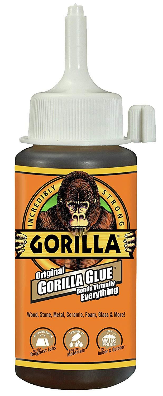 Gorilla Original Gorilla Glue, Waterproof Polyurethane Glue, 4 ounce Bottle, Brown