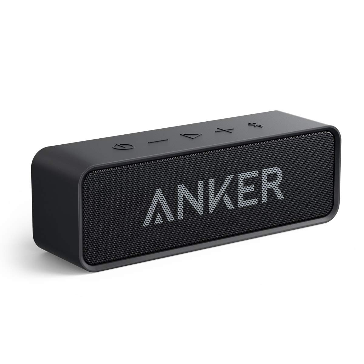 Anker SoundCore 24-Hour Playtime Bluetooth Speaker with Loud 10W Stereo Sound, Rich Bass, 66 ft Bluetooth Range, Built-in Mic. Portable Wireless Speaker for iPhone, Samsung, and More