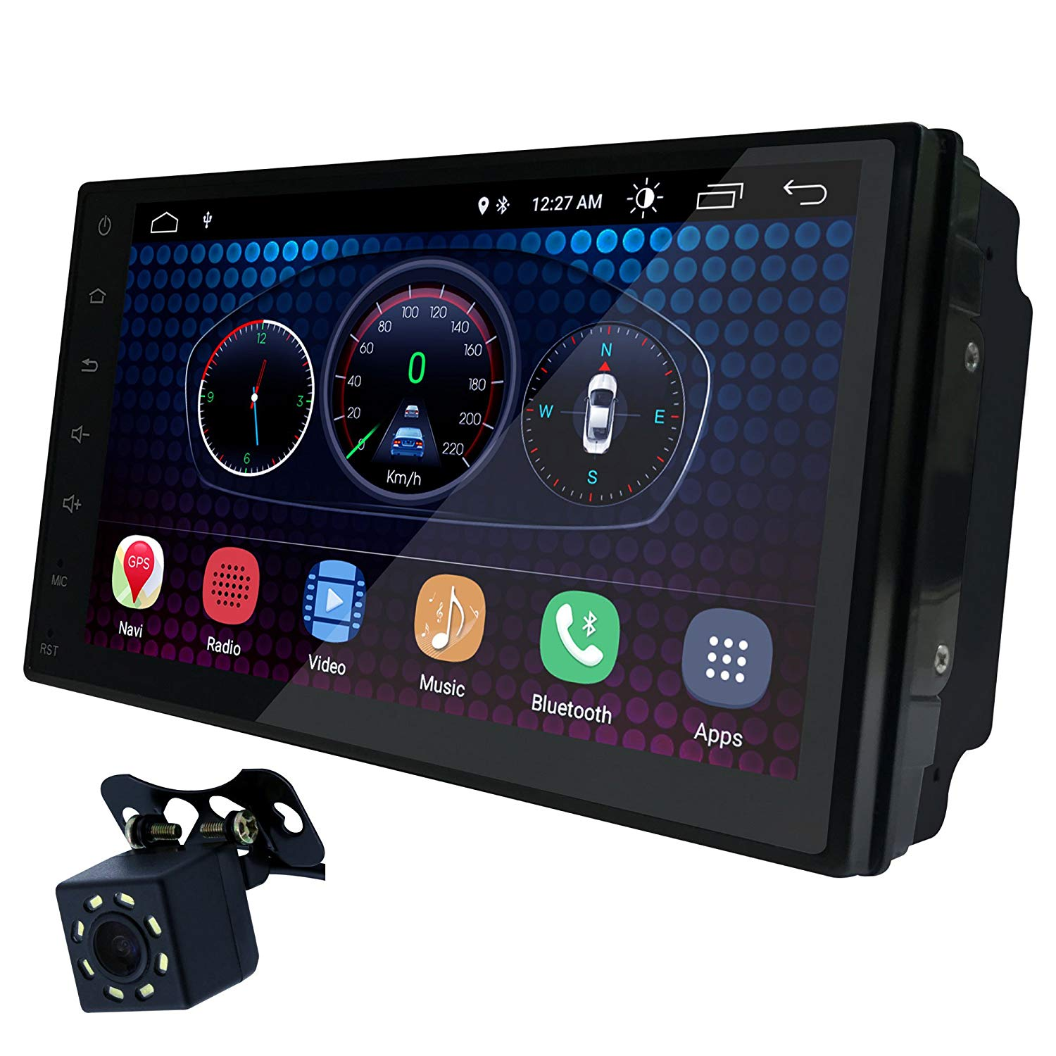 "UGAR 7"" Universal Car Stereo 1GB 16GB Android 6.0 Head Unit Double Din Touch Screen Radio Bluetooth WiFi Car Audio Indash GPS Navigation"