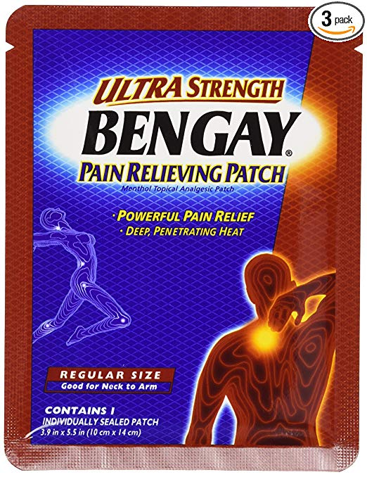 BENGAY Pain Relieving Patches Ultra Strength Regular