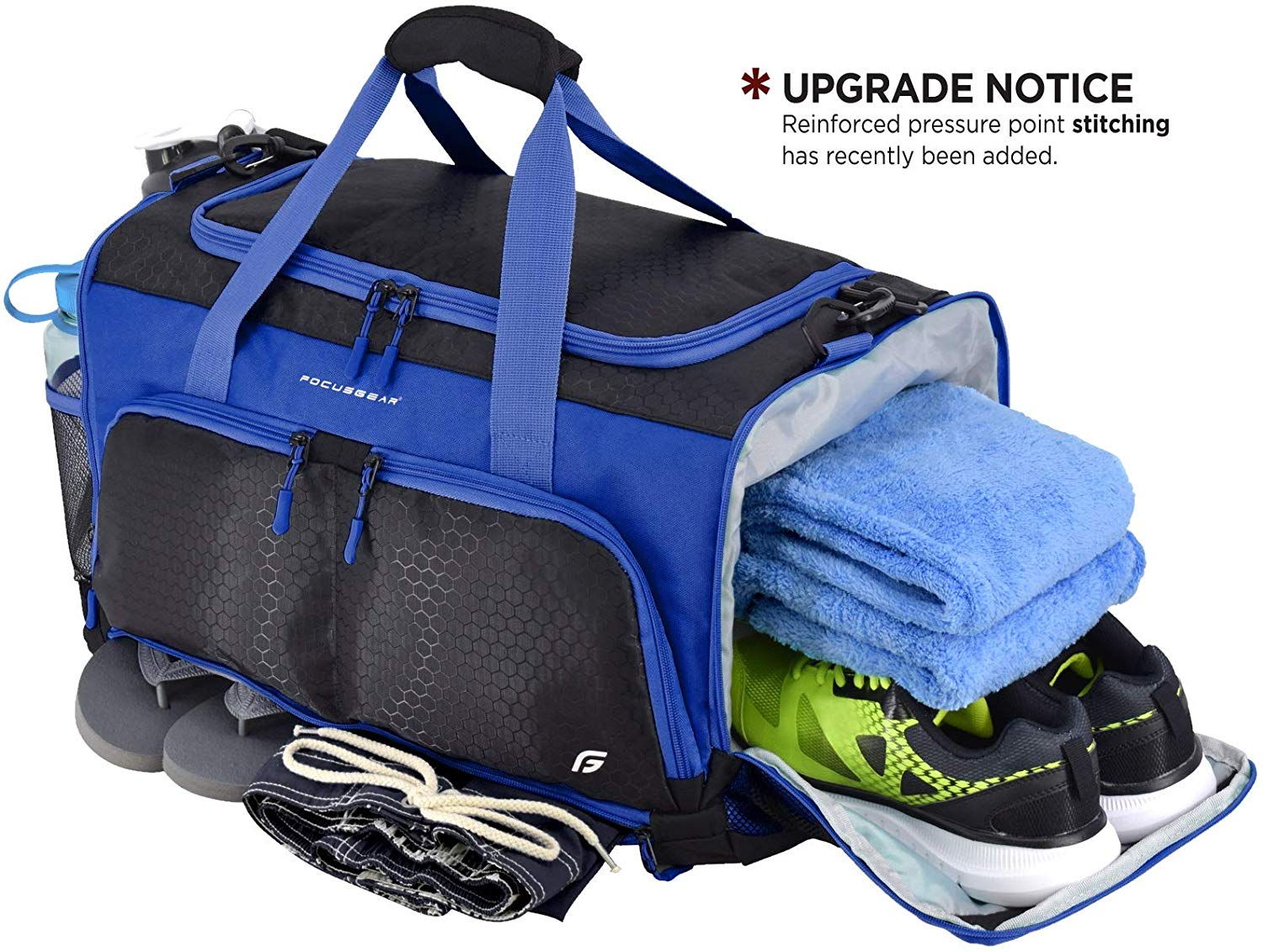 """Ultimate Gym Bag: The Crowdsource Designed 20"""" Duffel by FocusGear"""
