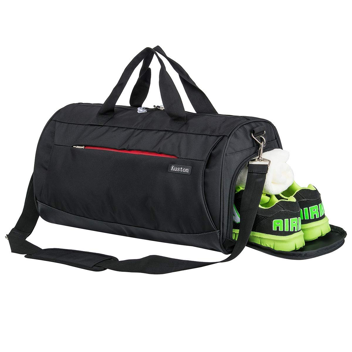 Kuston Sports Gym Bag with Shoes Compartment Travel Duffel Bag