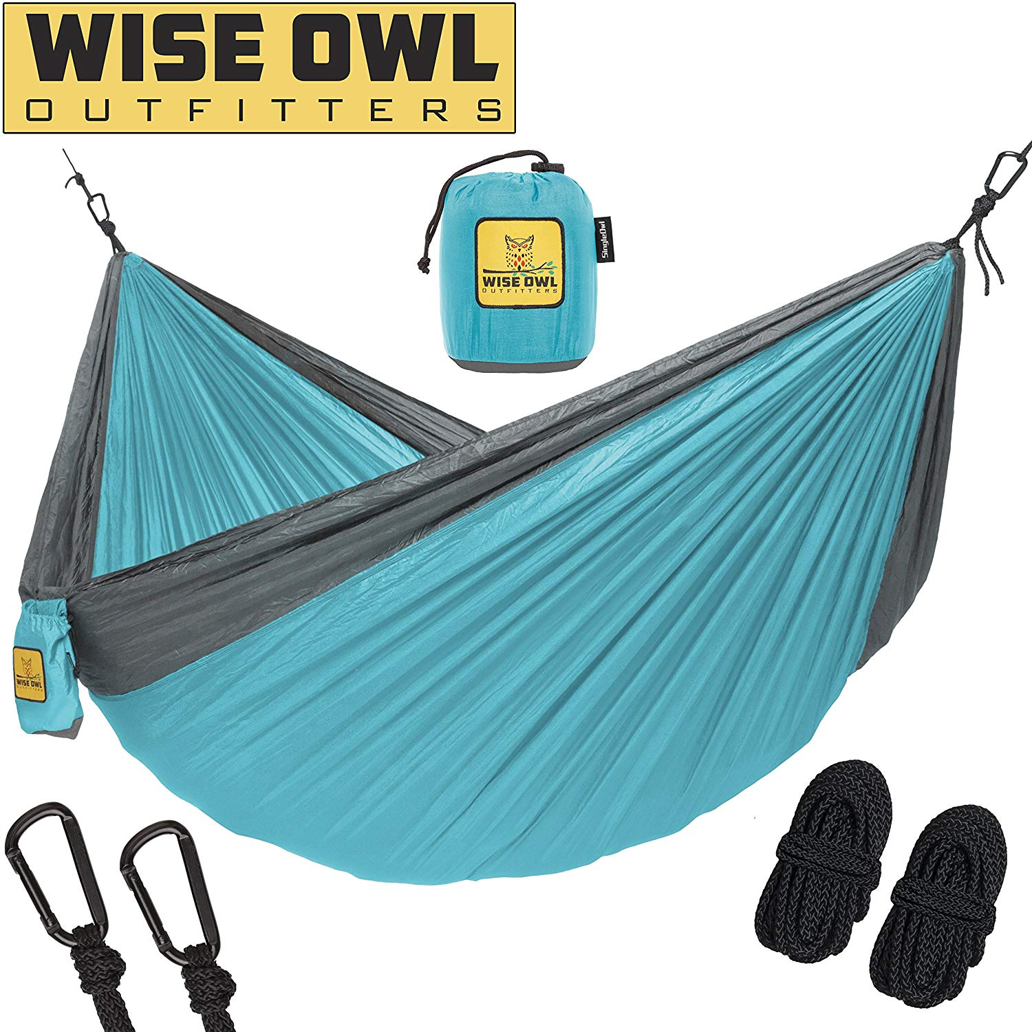 Wise Owl Outfitters Hammock Camping Double & Single Tree Hammocks - Folding Hammocks