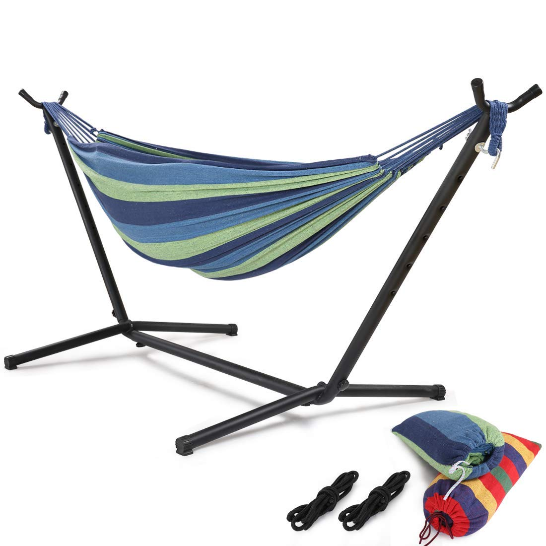 HONGJUN Double Hammock with Steel Stand