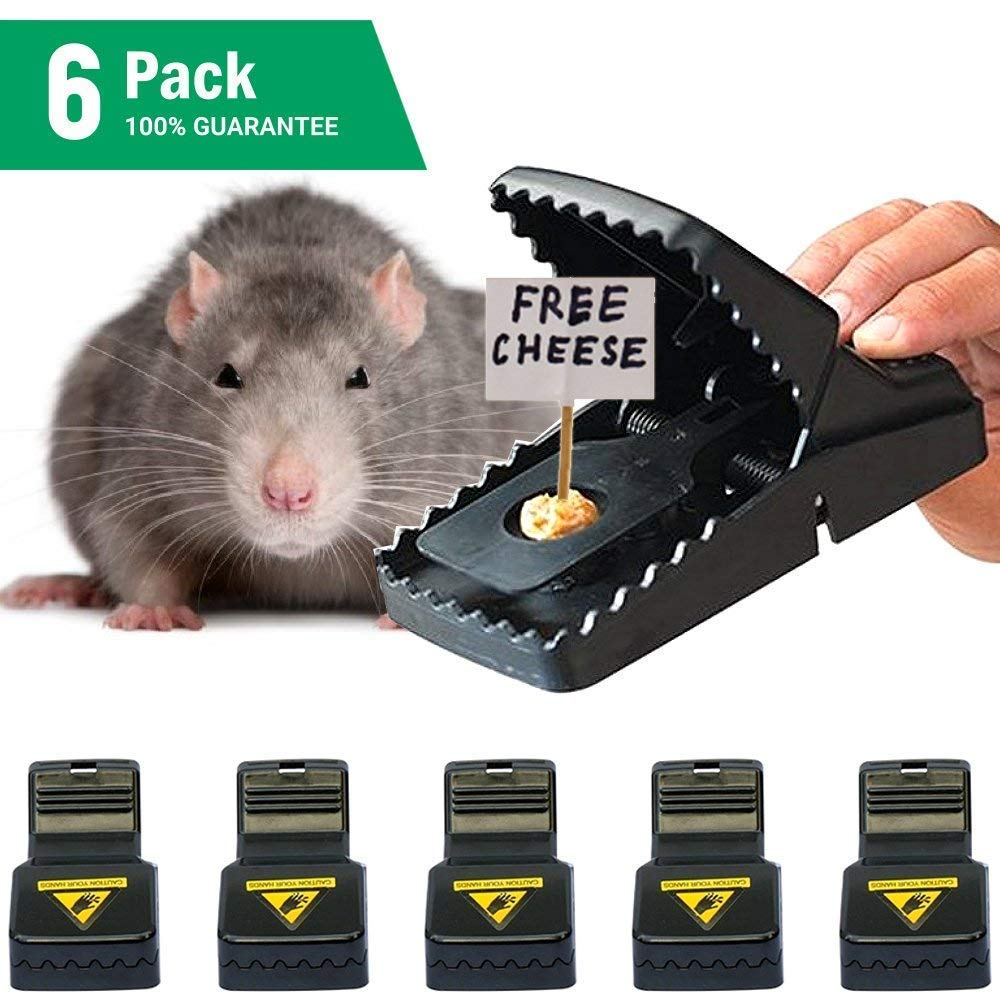 GoodByeReality! Mouse Trap, Best Mouse Traps That Work Mice Snap Traps Outdoor Indoor use Humane Reusable Mouse Rat Trap Quick Kill Pets Safe 6Pack (Black snap trap3)