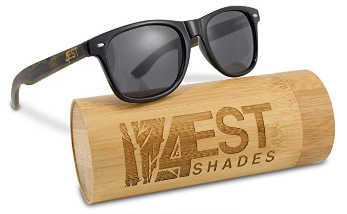 "Bamboo Sunglasses - 100% Polarized Wood Shades for Men & Women from the""50/50"" Collection"