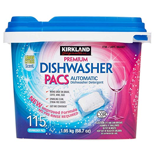 Kirkland Signature Easy to Use, Streak Free Premium Dishwasher Pacs