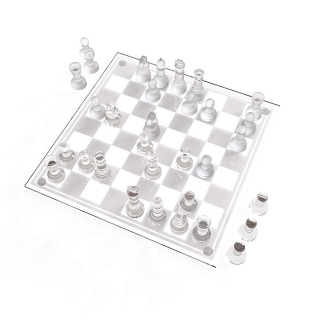 Trademark Games Glass Chess Set