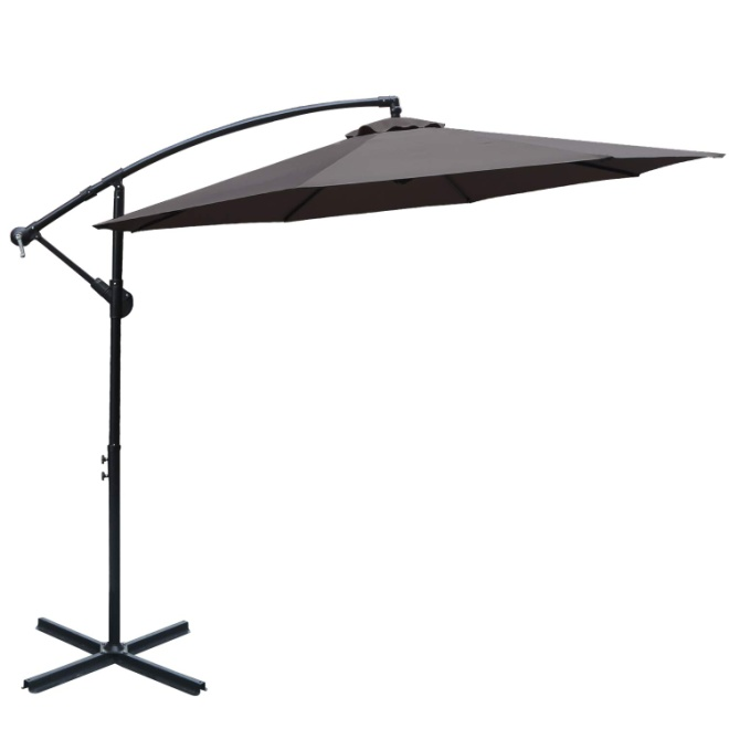 ABCCANOPY 10 FT Hanging Umbrella Cantilever Umbrella