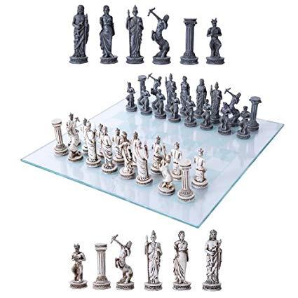 Ebros Greek Mythology Chess Set