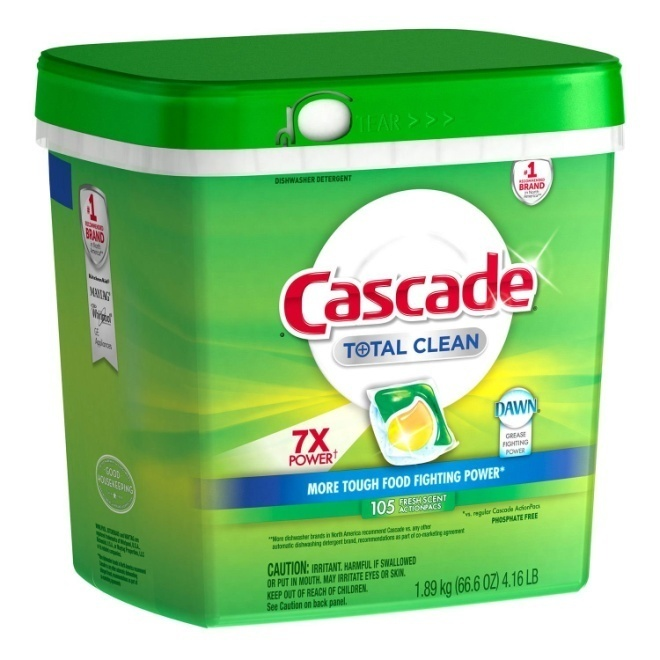 Cascade Total Clean 7X POWER Dishwashing Detergent Action Pacs