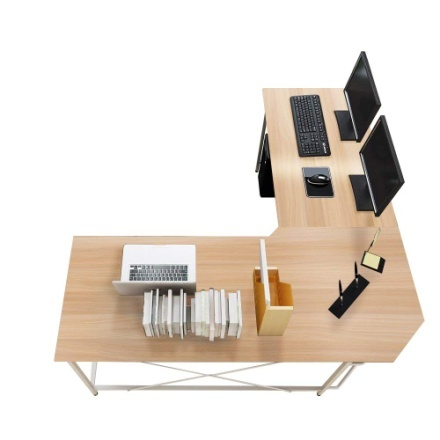 "soges 59"" x 59"" Large L-Shaped Desk Computer"