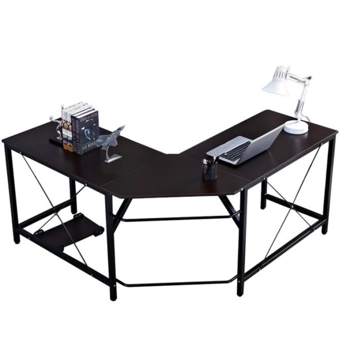 """DlandHome L-Shaped Computer Desk 59""""+59"""""""