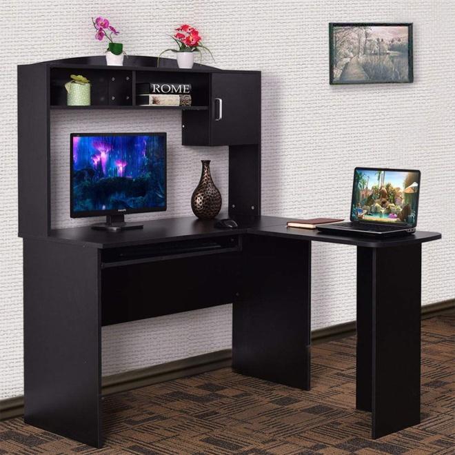 Tangkula L Shaped Desk Corner Desk