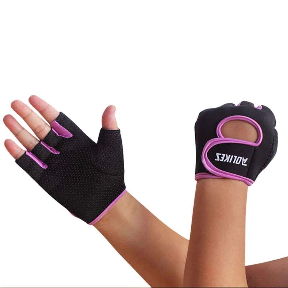 Riiya Sport Gloves Unisex Fitness Exercise Workout Weight Lifting Gloves