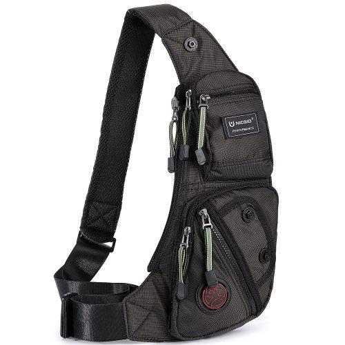 Nicgid Sling Bag Chest Shoulder Backpack Fanny Pack