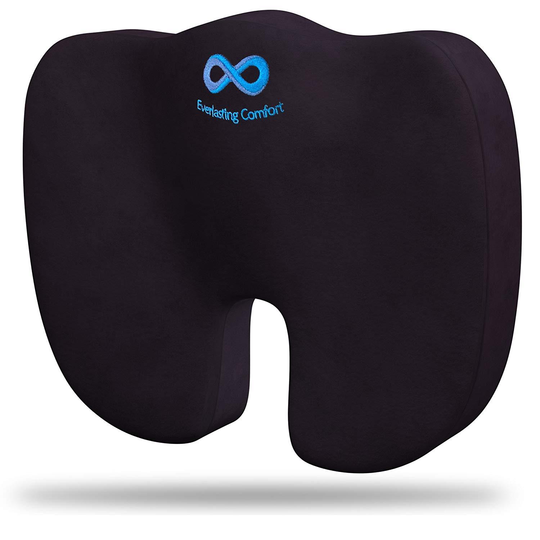 Everlasting Comfort 100% Pure Memory Foam Luxury Seat Cushion - Butt Pillows