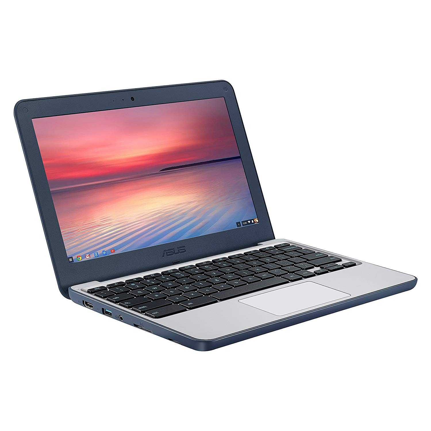 "ASUS Chromebook C202SA-YS04 11.6"" Ruggedized and Water Resistant Design with 180 Degree Hinge (Intel Celeron 4GB RAM, 32GB eMMC, Dark Blue)"