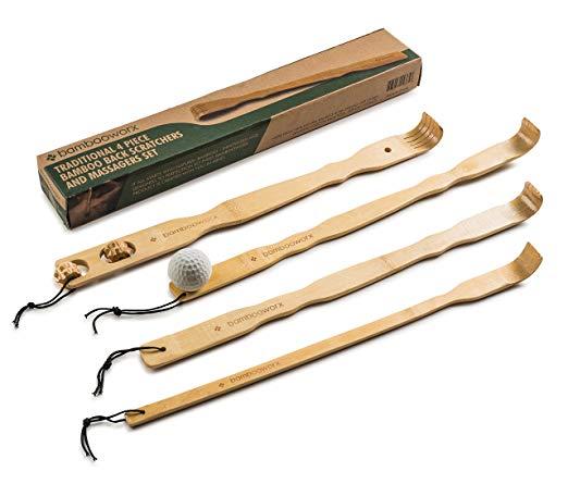 BambooWorx 4 Piece Traditional Back Scratcher