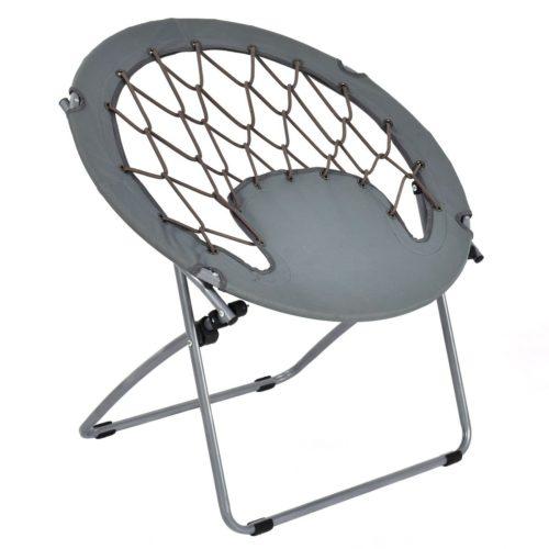 Giantex Folding Bunjo Bungee Chair Outdoor Bungee Dish Chairs - Indoor/Outdoor Bungee Chairs