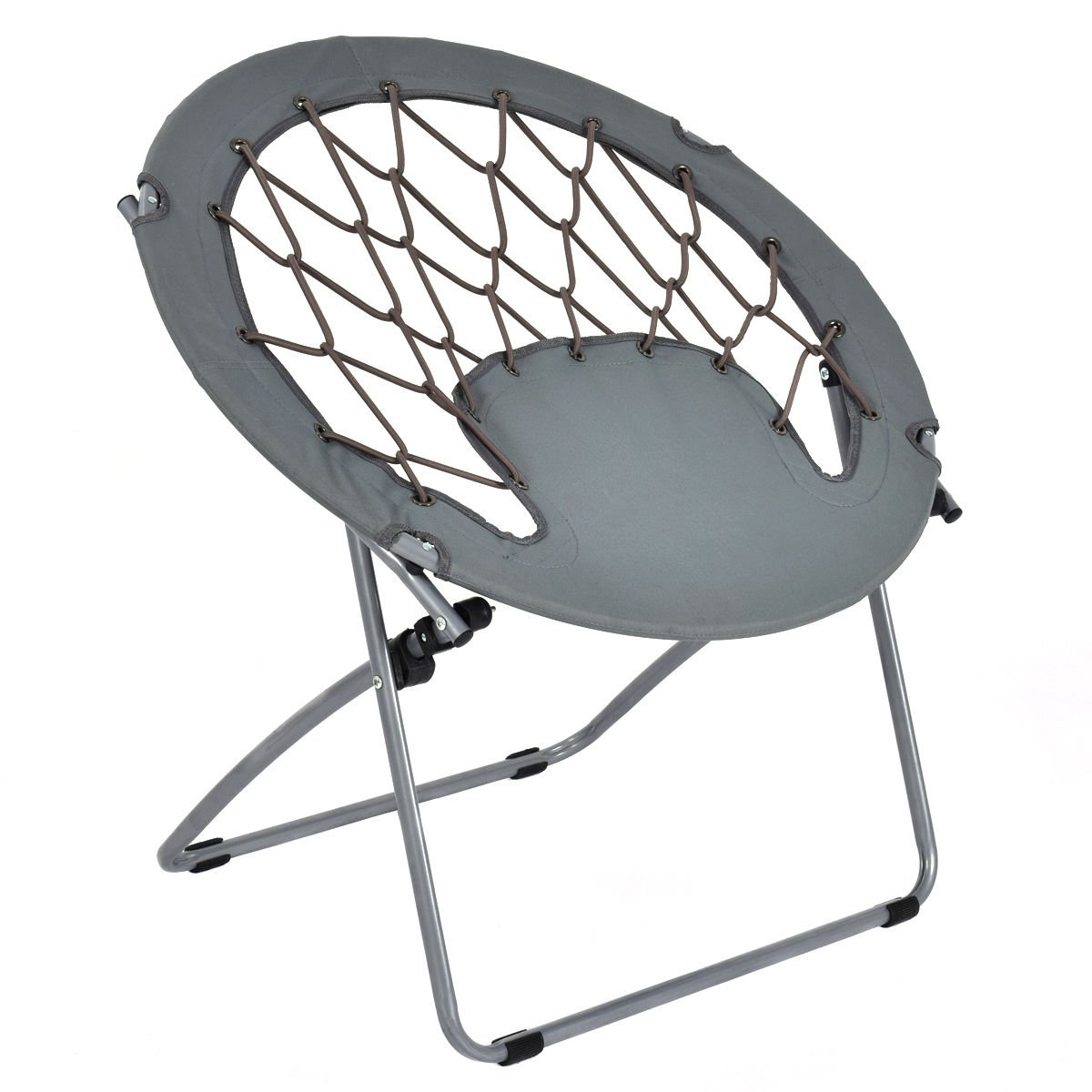Giantex Folding Bunjo Bungee Chair Outdoor Bungee Dish Chairs