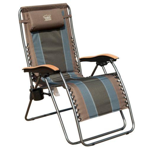 Timber Ridge Zero Gravity Patio Lounge Chair - Indoor/Outdoor Bungee Chairs