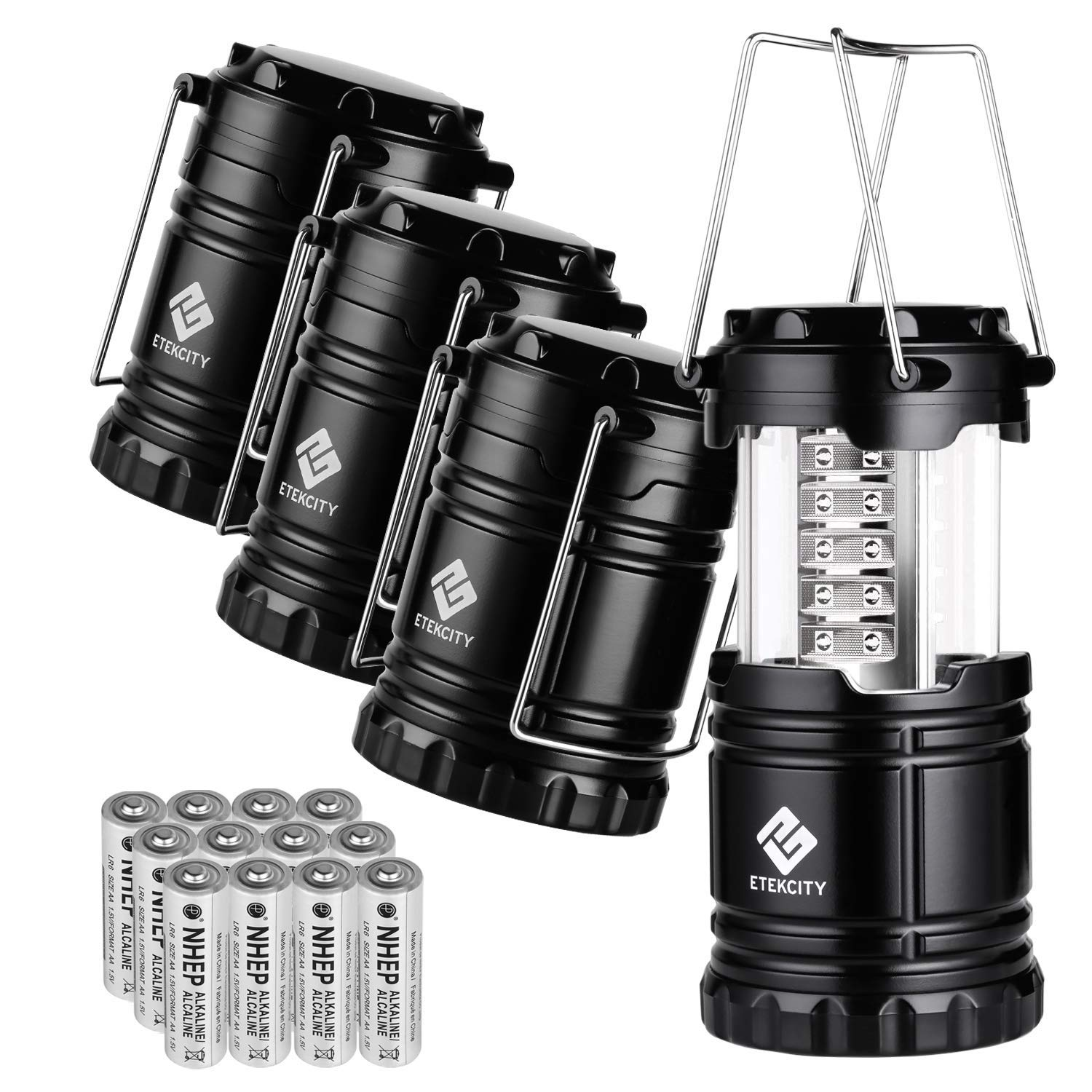 Etekcity 4 Pack Portable LED Camping Lantern Flashlight