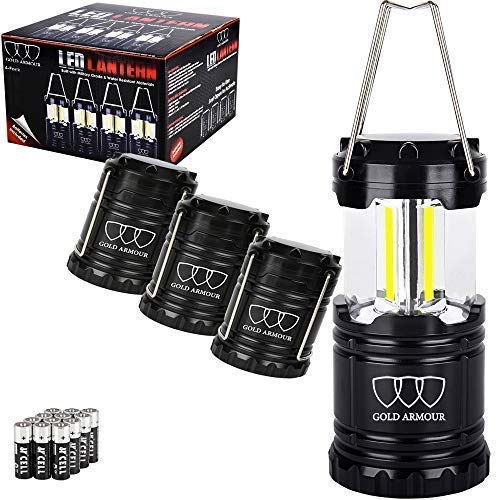 Gold Armour 4Pack Portable LED Camping Lantern