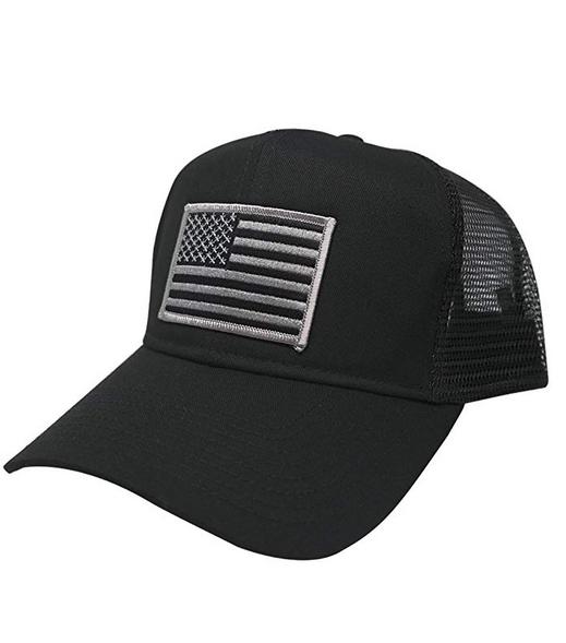 AC Racing USA American Flag Patch Snapback Trucker Mesh Cap