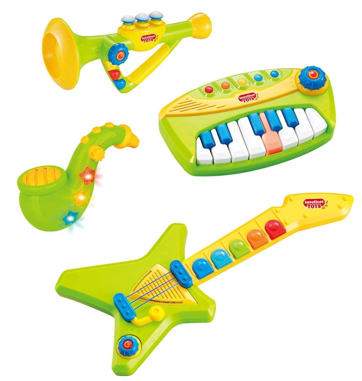 Liberty Imports 4-Piece Band Musical Toy Instruments Playset