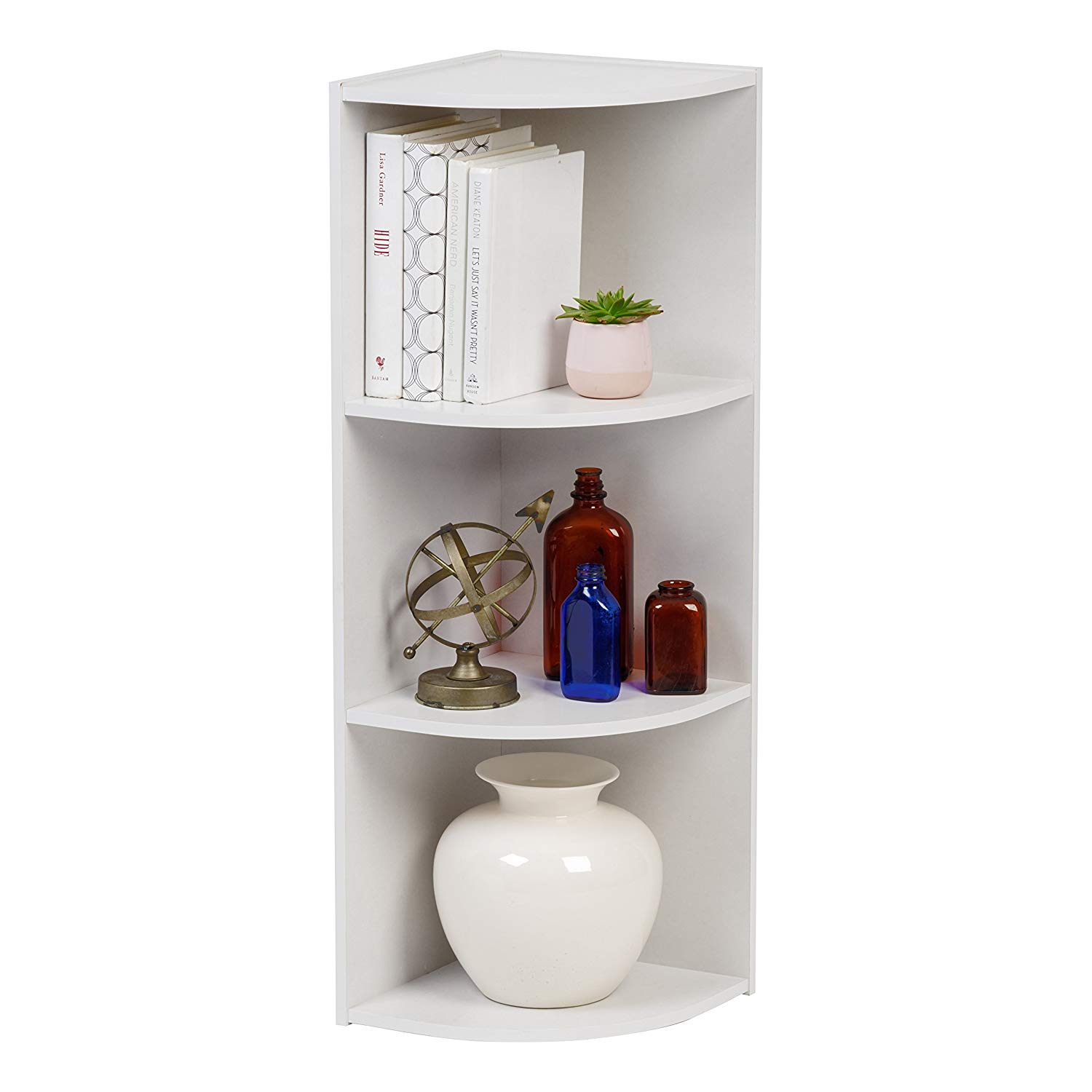 IRIS 3-Tier Corner Curved Shelf Organizer