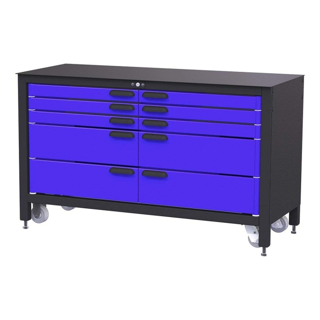 Swivel 10-Drawer 60-Inch Rolling Workbench