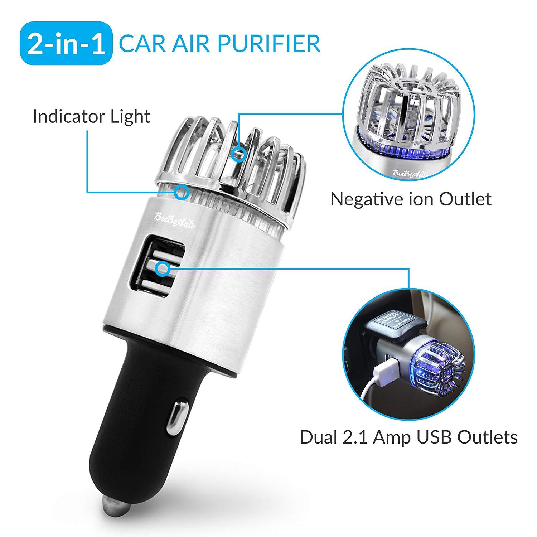 Car Air Purifier, Ionizer Deodorizer and Ionic Air Freshener