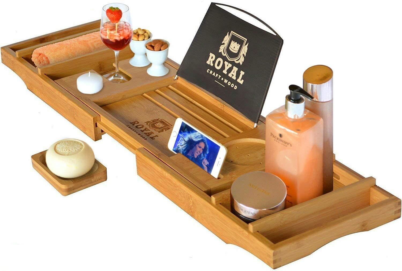 Royal Craft Wood Luxury Bathtub Caddy Tray