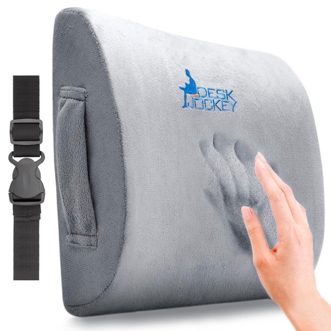 Desk Jockey Lower Back Pain Lumbar Pillow Support Cushion