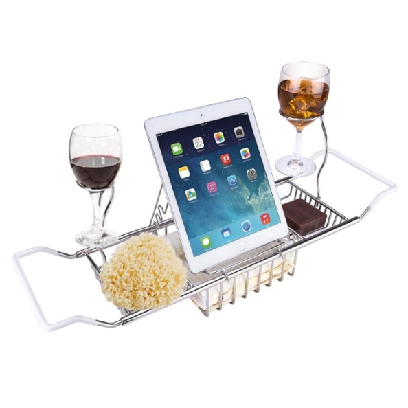 iPEGTOP 304 Stainless Steel Bathtub Caddy Tray