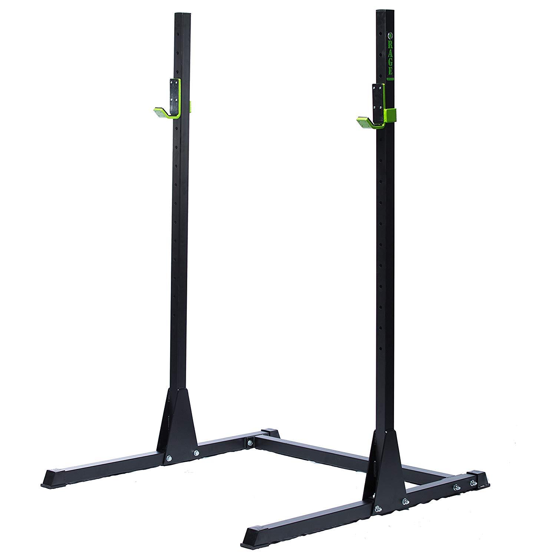 RAGE Fitness Adjustable Squat Rack