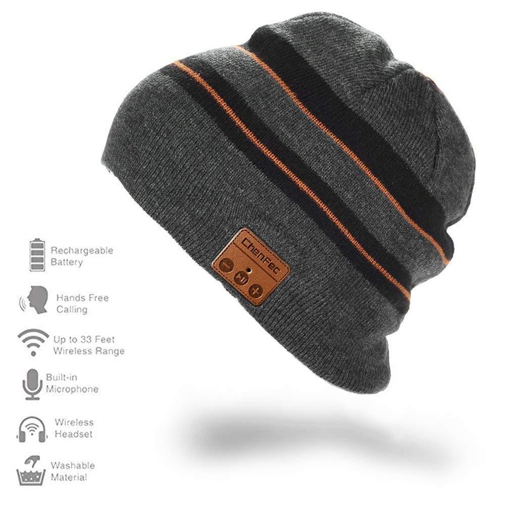 CFZC Wireless Bluetooth Beanie Hat Wireless Unisex Knit