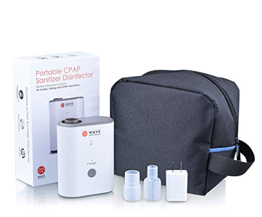 Wave Medical CPAP Cleaner and Sanitizer Bundle - CPAP Machine Cleaner System for Machines, Masks, and Tubing - Includes Heated Hose Adapter, AirMini Adapter, and Sanitizing Bag