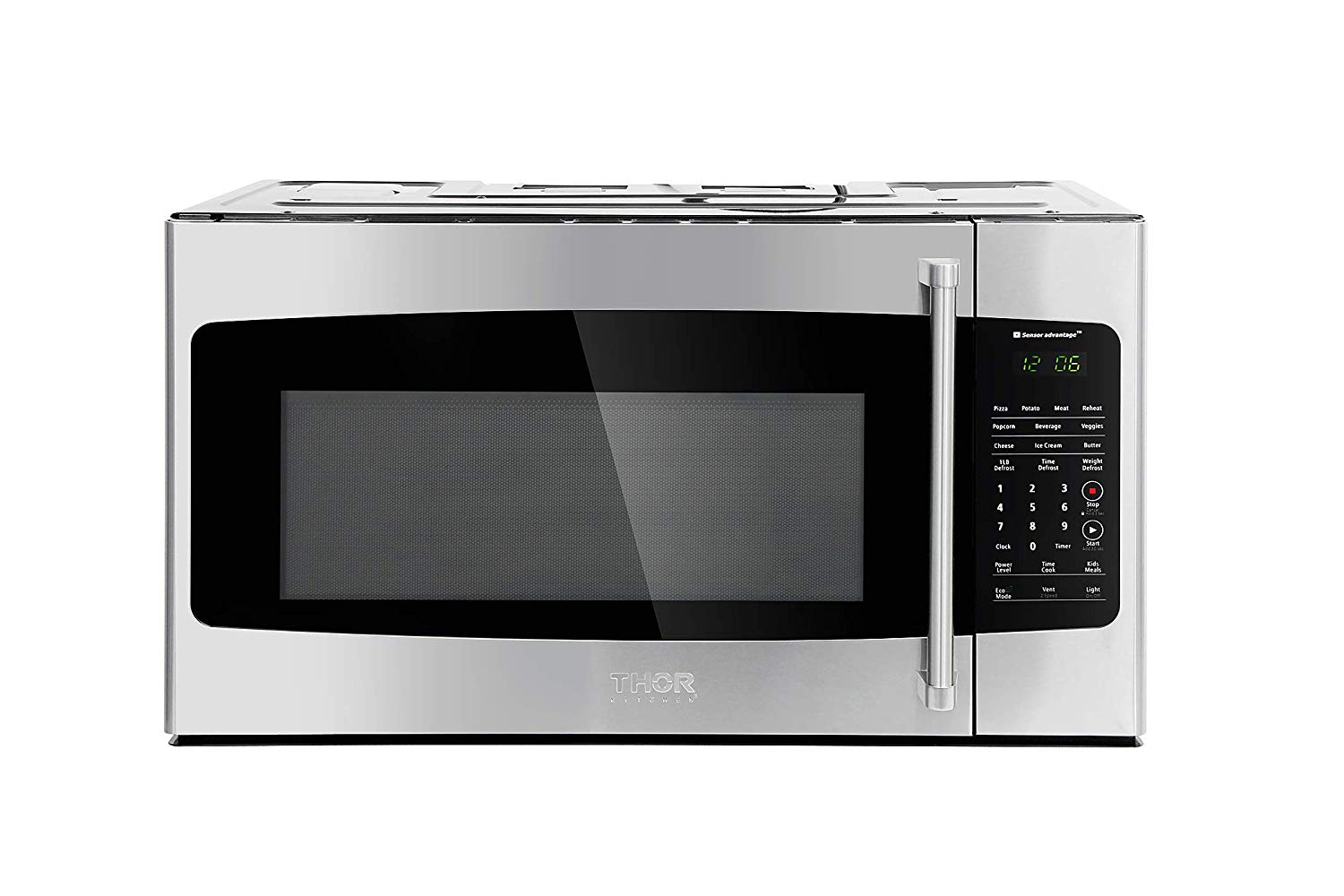 Thor Kitchen Appliance 30 in. W 1.7 cu. ft Over the Range Microwave in Stainless Steel with Sensor Cooking OTR, Eco Mode, Clock Timer and 1000 Watts of Cooking Power