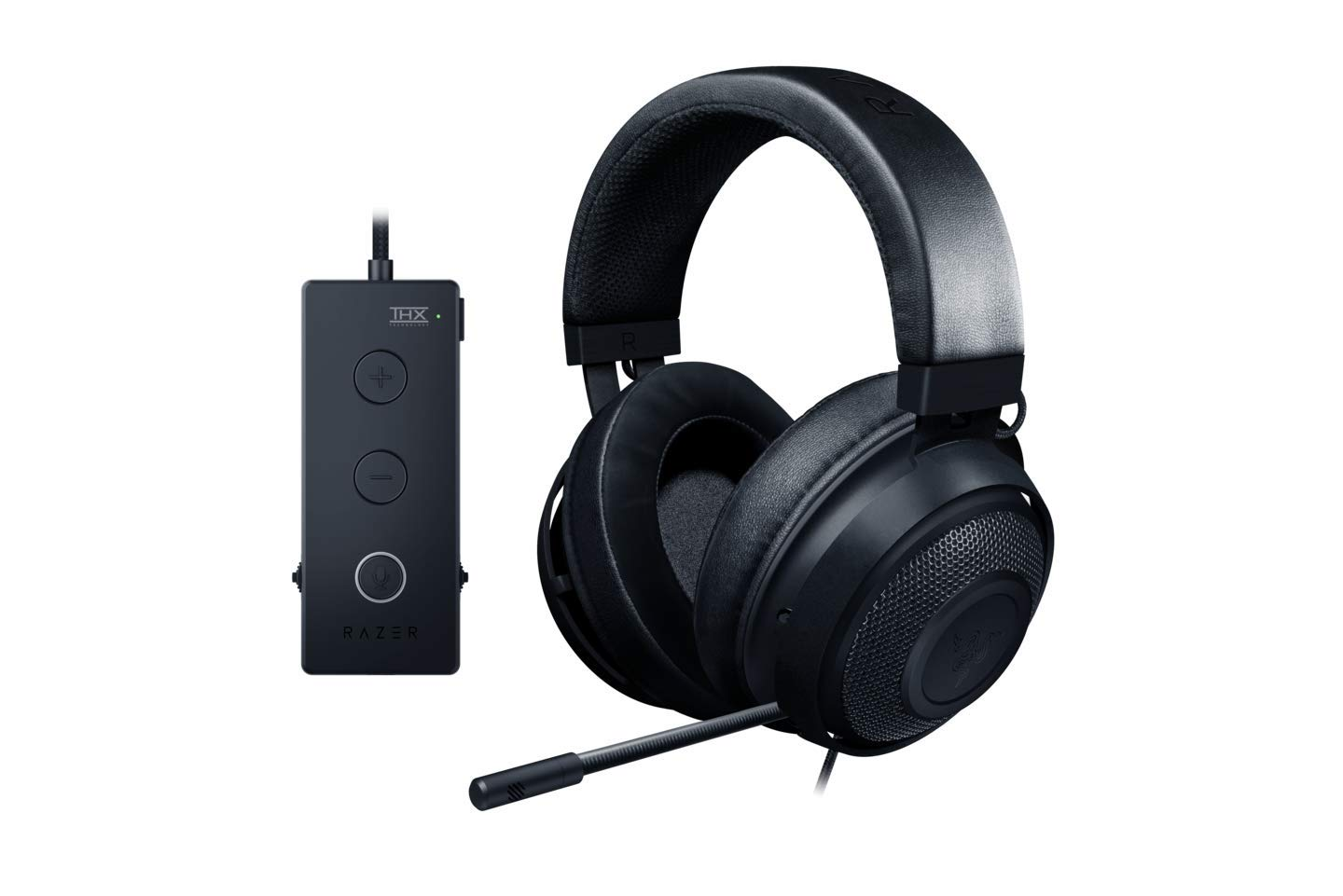 Razer Kraken Tournament Edition Gaming Headset - [Matte Black]:Aluminum Frame - Retractable Noise Cancelling Mic - THX 7.1 Surround Sound USB DAC - For PC, Xbox, PS4, Nintendo Switch