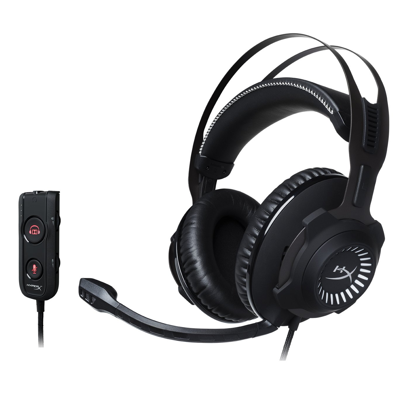 HyperX Cloud Revolver S - Gaming Headset with Dolby 7.1 SurroundSound - Steel Frame - Signature Memory Foam - Premium Leatherette - Detachable noise-cancellation microphone
