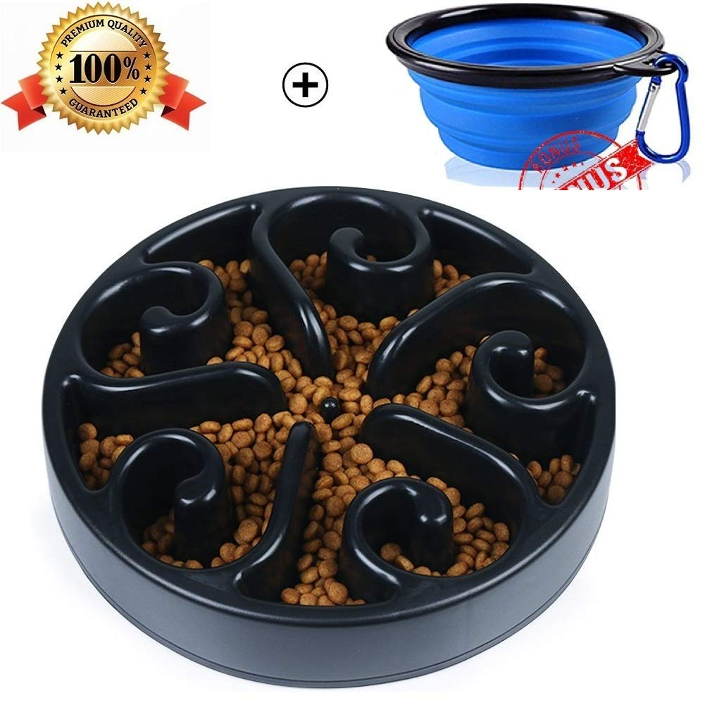 Pet Fun Feeder Dog Bowl Slow Feeder