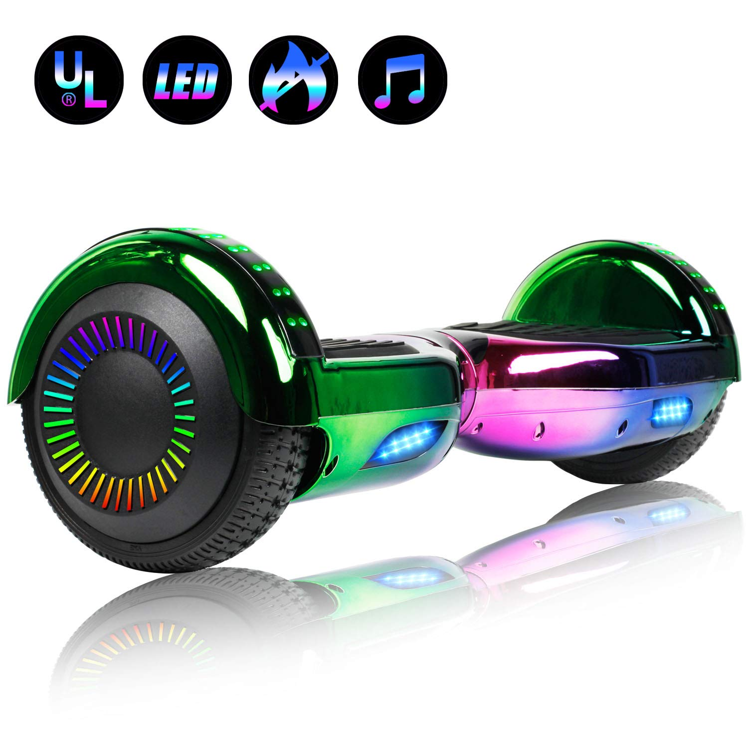 Felimoda Self Balancing Hoverboards with LED Light and Carrying Case,6.5 Inch Two Wheel Smart Electric Scooter for Kids and Adults-UL2272 Certified - Cheap Hoverboards under 250$